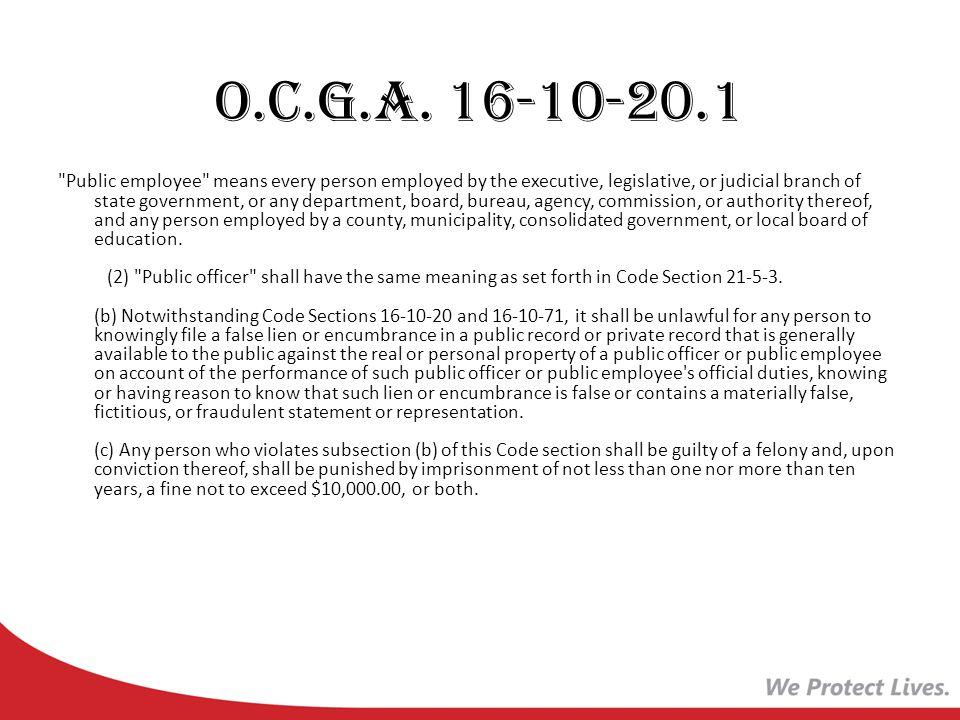 O.C.G.A. 16-10-20.1