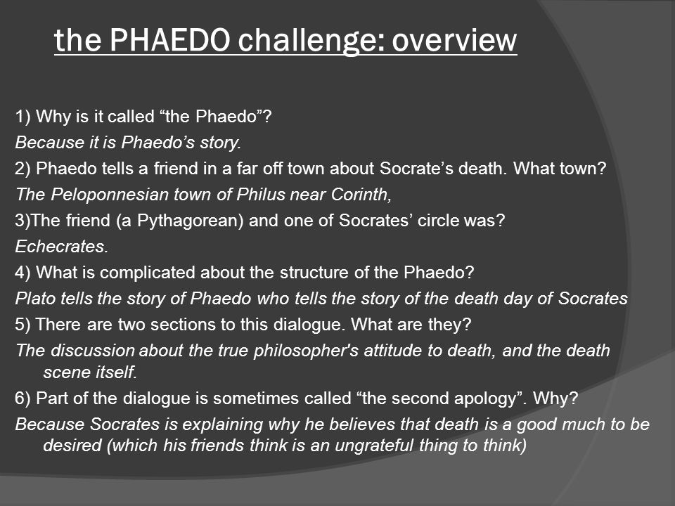the PHAEDO challenge: overview