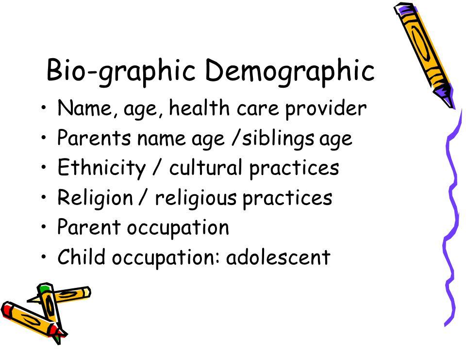 Bio-graphic Demographic