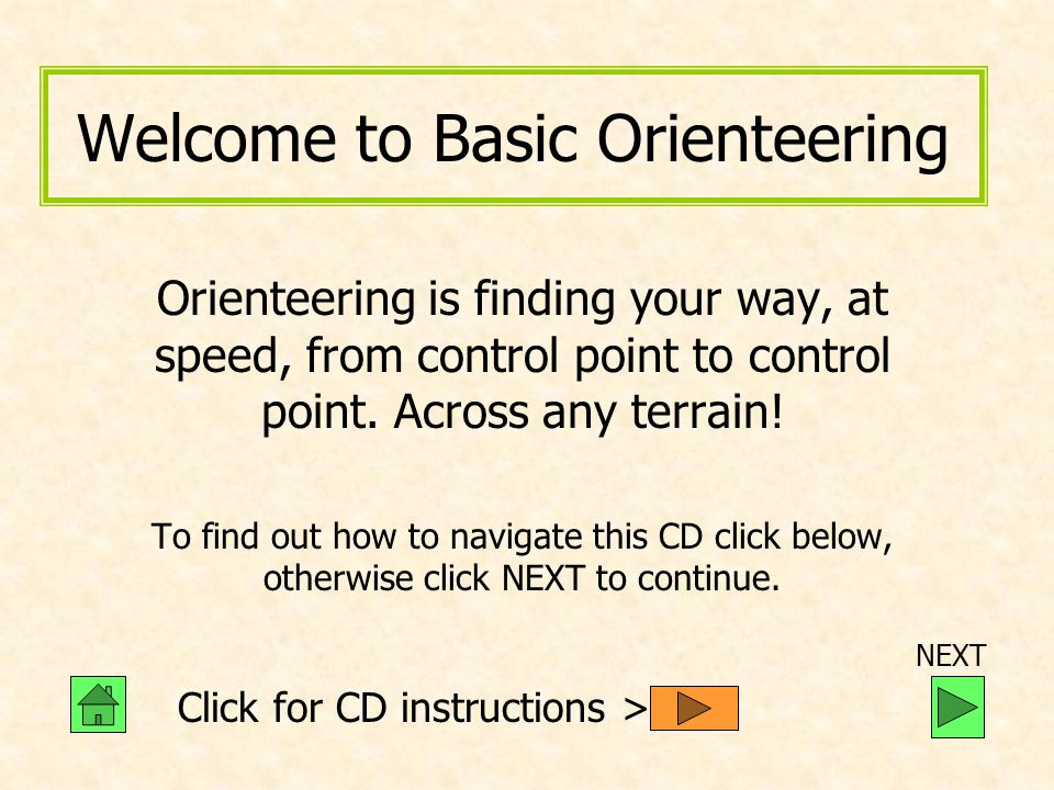 Welcome to Basic Orienteering