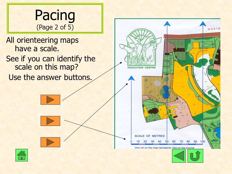 Pacing (Page 2 of 5) All orienteering maps have a scale.
