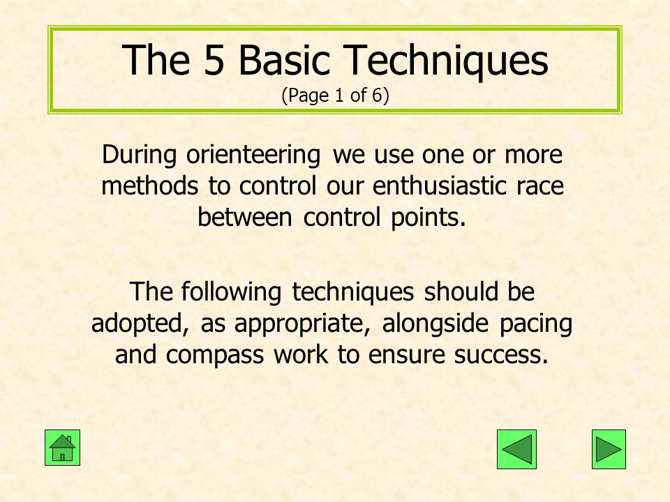 The 5 Basic Techniques (Page 1 of 6)