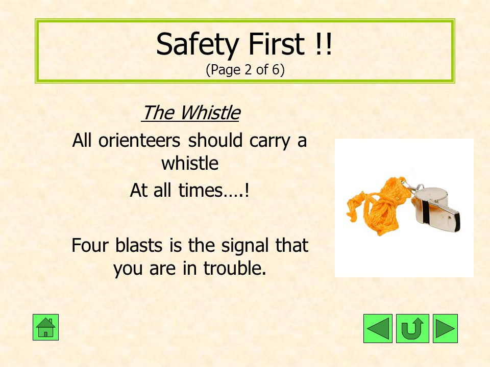 Safety First !! (Page 2 of 6) The Whistle