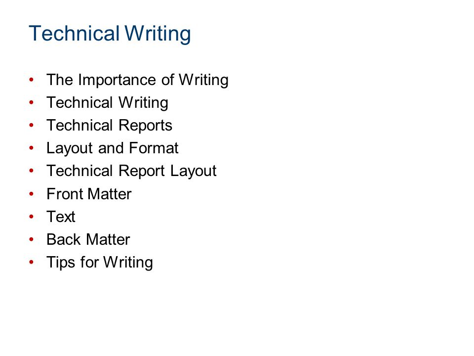 Technical Writing The Importance of Writing Technical Writing