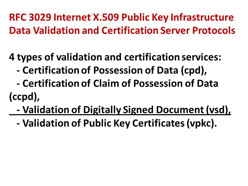 RFC 3029 Internet X.509 Public Key Infrastructure
