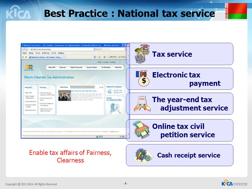 Enable tax affairs of Fairness, Clearness