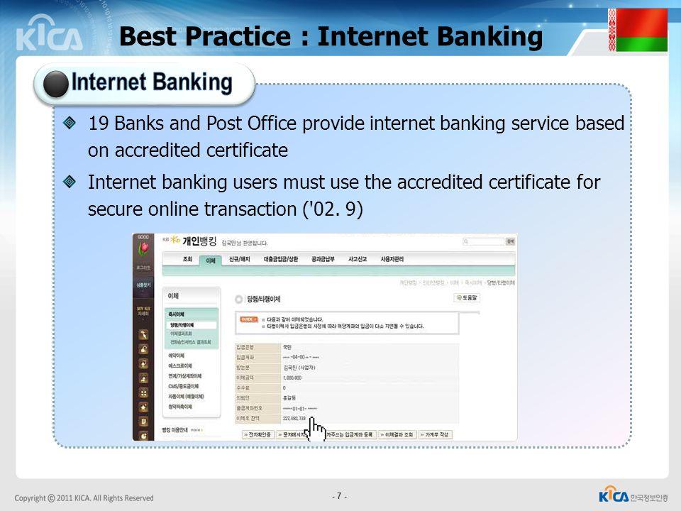 Best Practice : Internet Banking