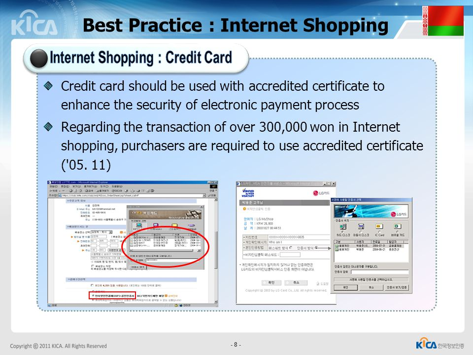 Internet Shopping : Credit Card