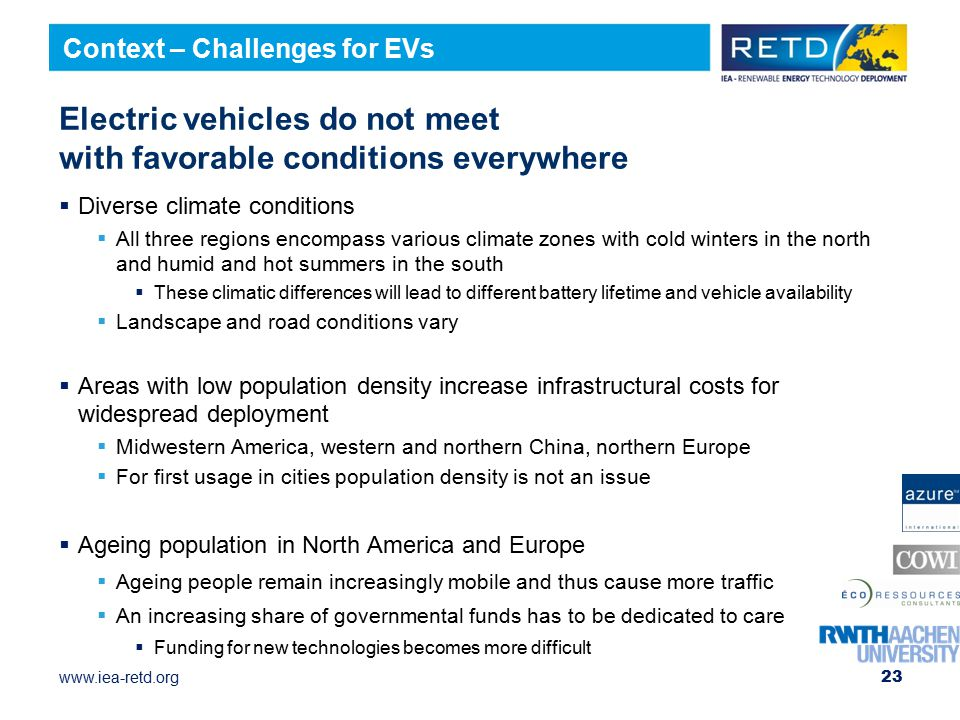Electric vehicles do not meet with favorable conditions everywhere