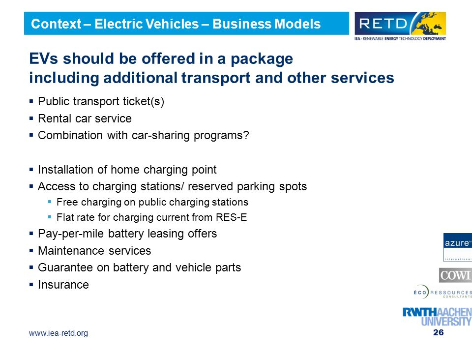 Context – Electric Vehicles – Business Models