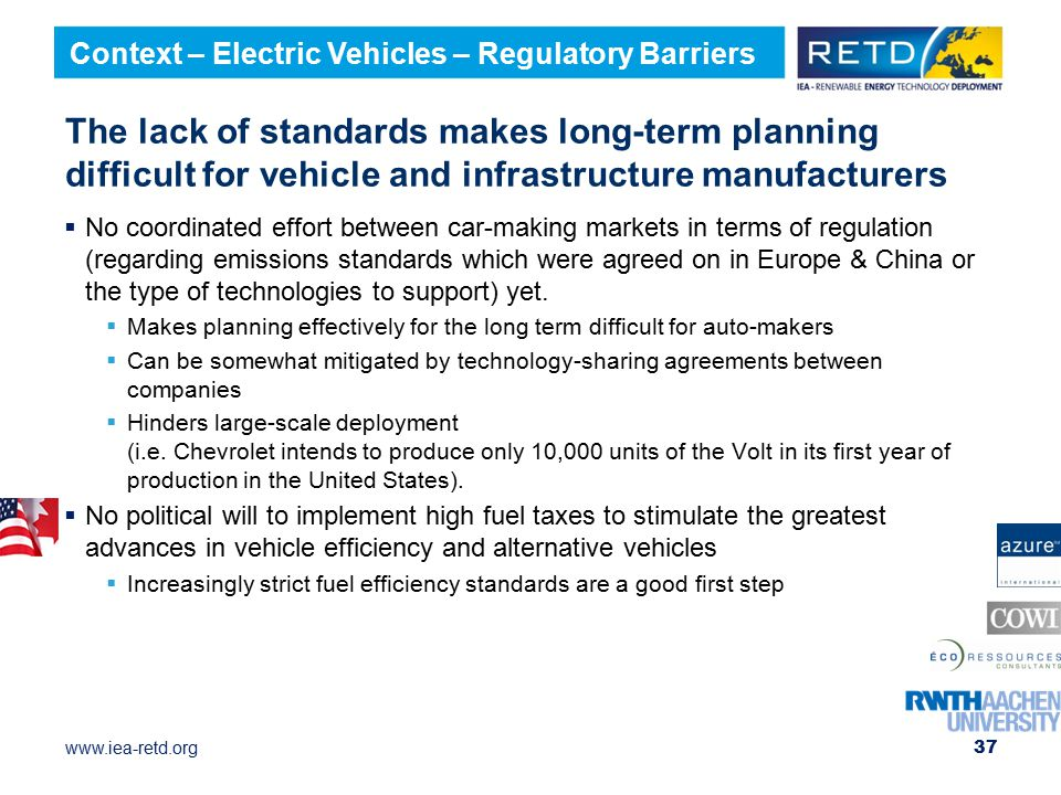 Context – Electric Vehicles – Regulatory Barriers
