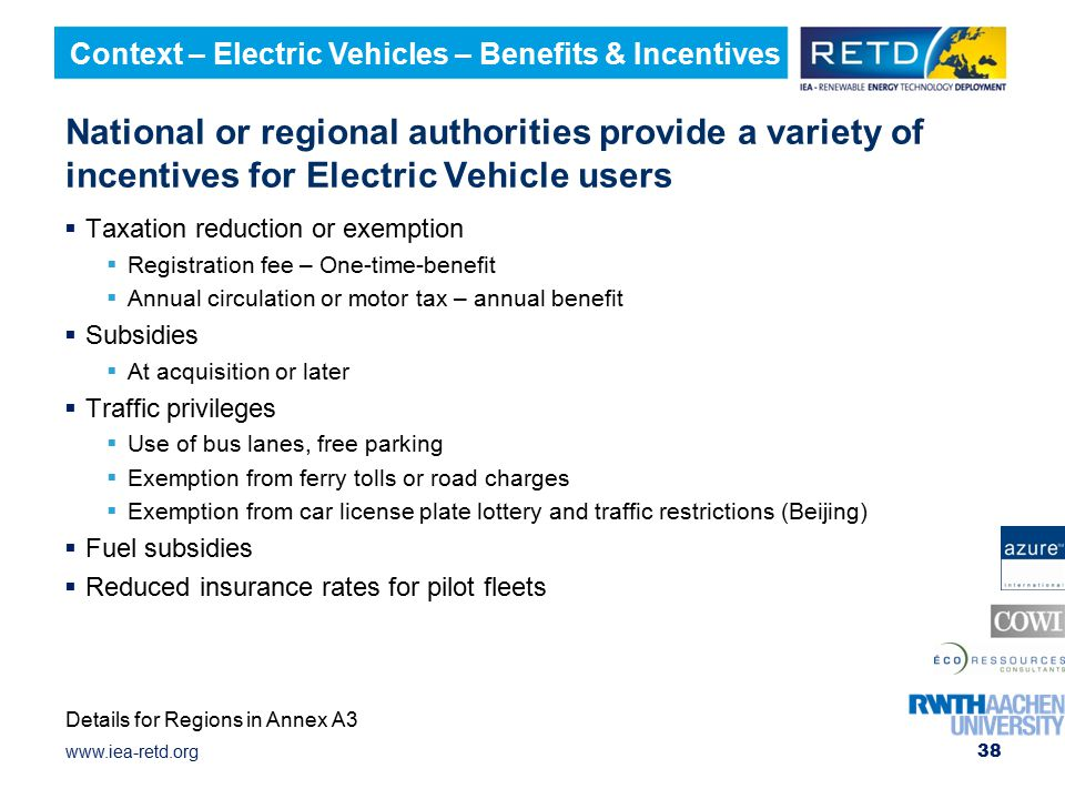 Context – Electric Vehicles – Benefits & Incentives