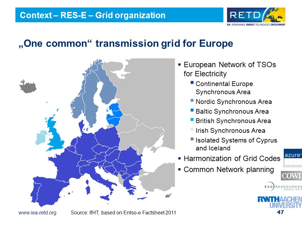 """One common transmission grid for Europe"