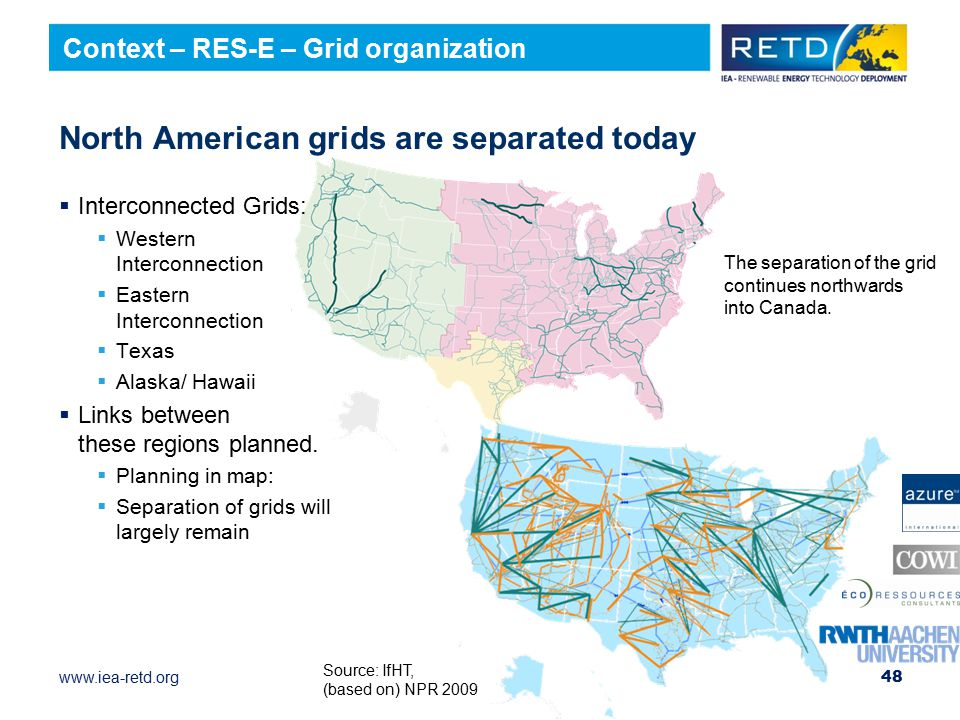 North American grids are separated today