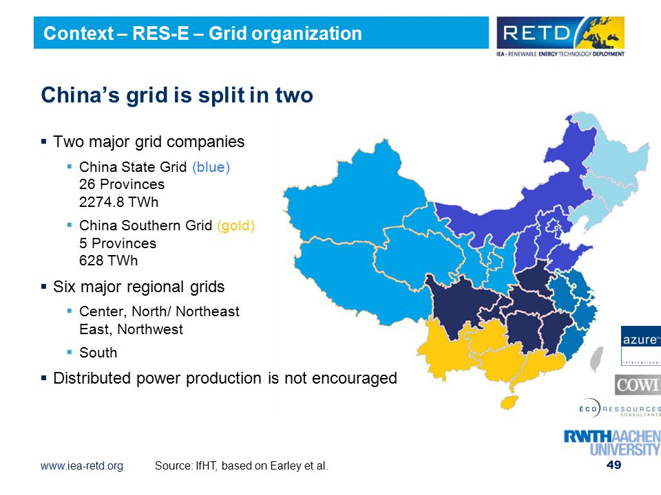 China's grid is split in two