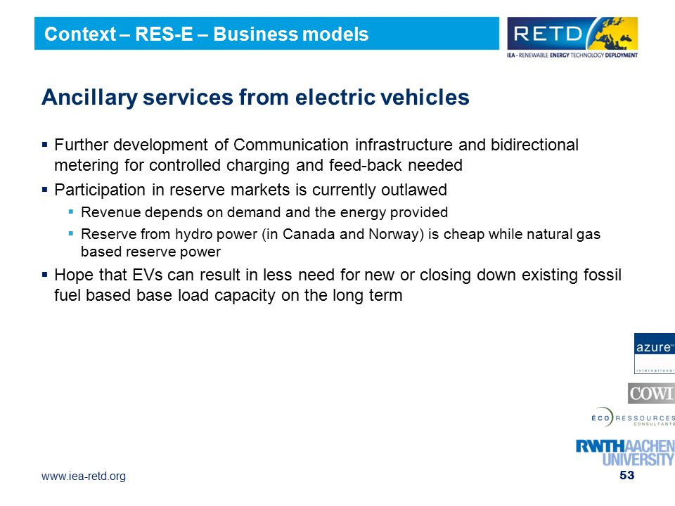 Ancillary services from electric vehicles