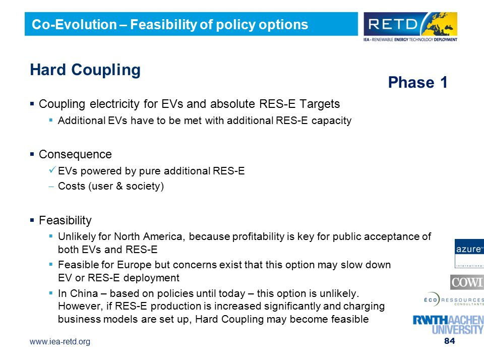 Hard Coupling Phase 1 Co-Evolution – Feasibility of policy options
