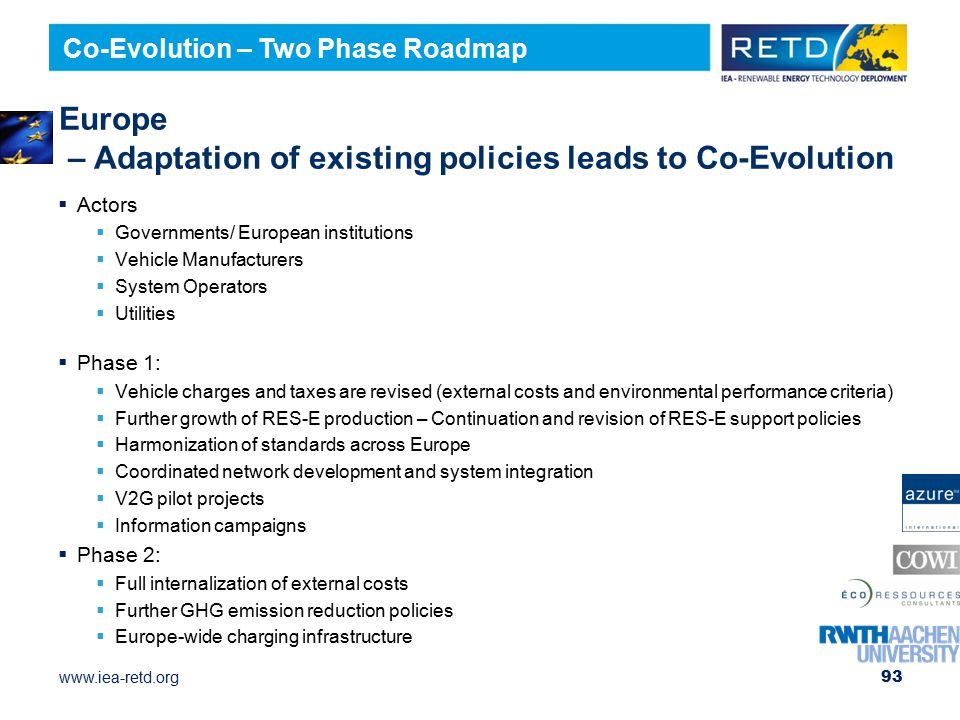 Europe – Adaptation of existing policies leads to Co-Evolution