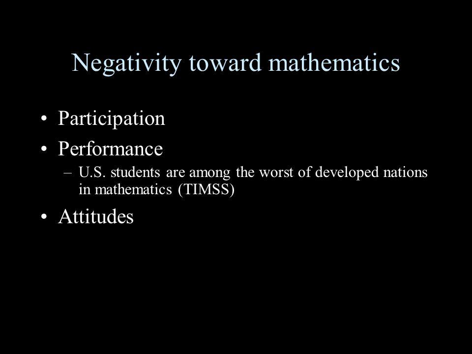 Negativity toward mathematics