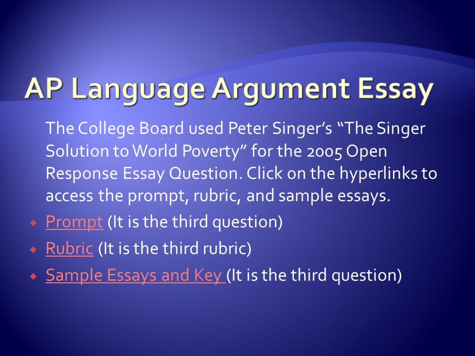 the argument essay
