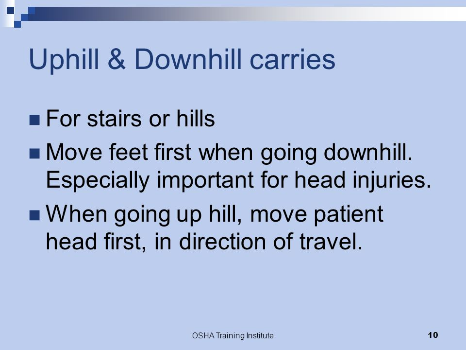 Uphill & Downhill carries