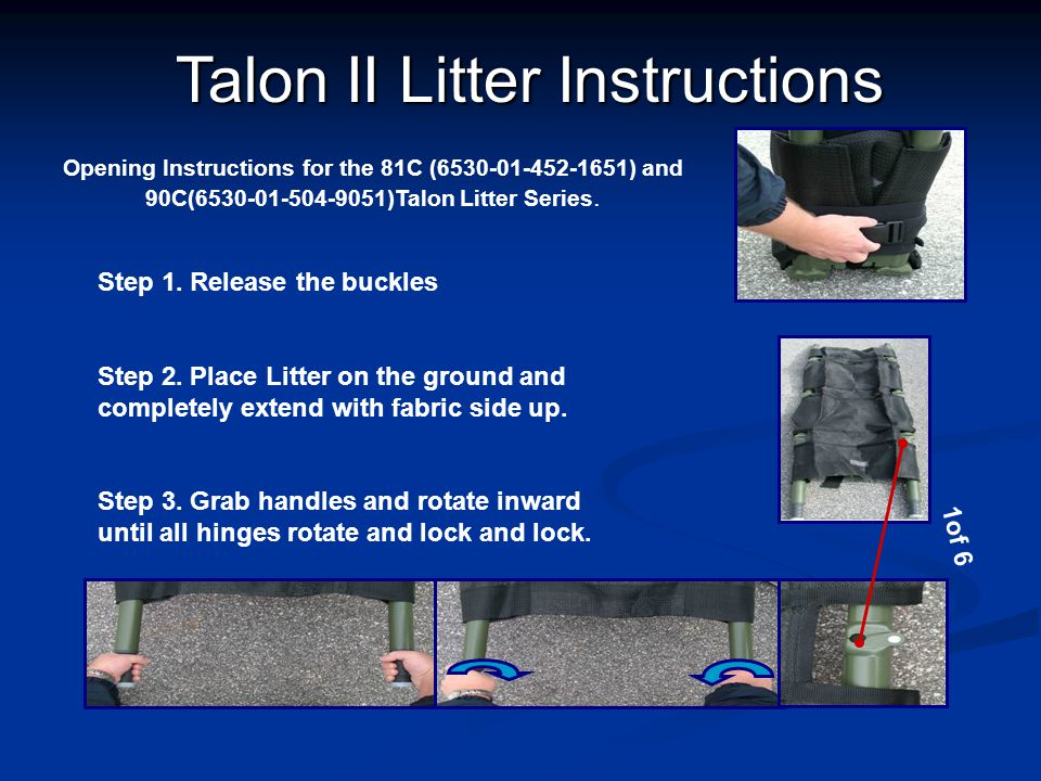 Talon II Litter Instructions