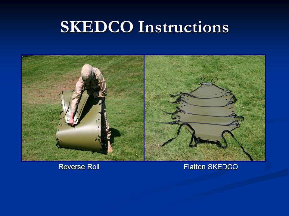 SKEDCO Instructions Reverse Roll Flatten SKEDCO