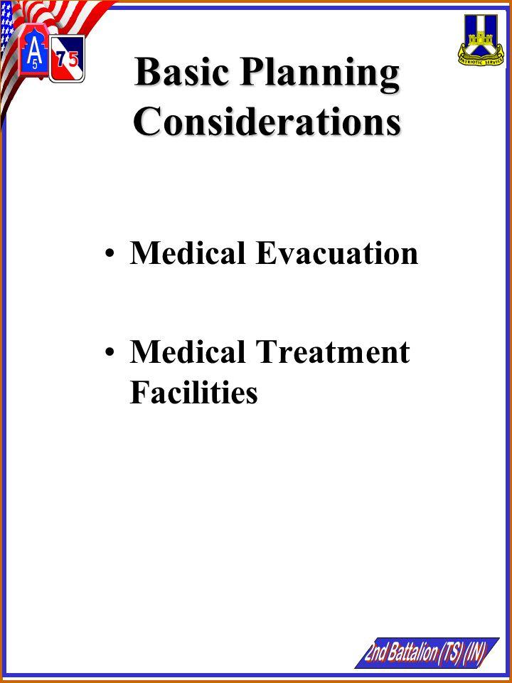 Basic Planning Considerations