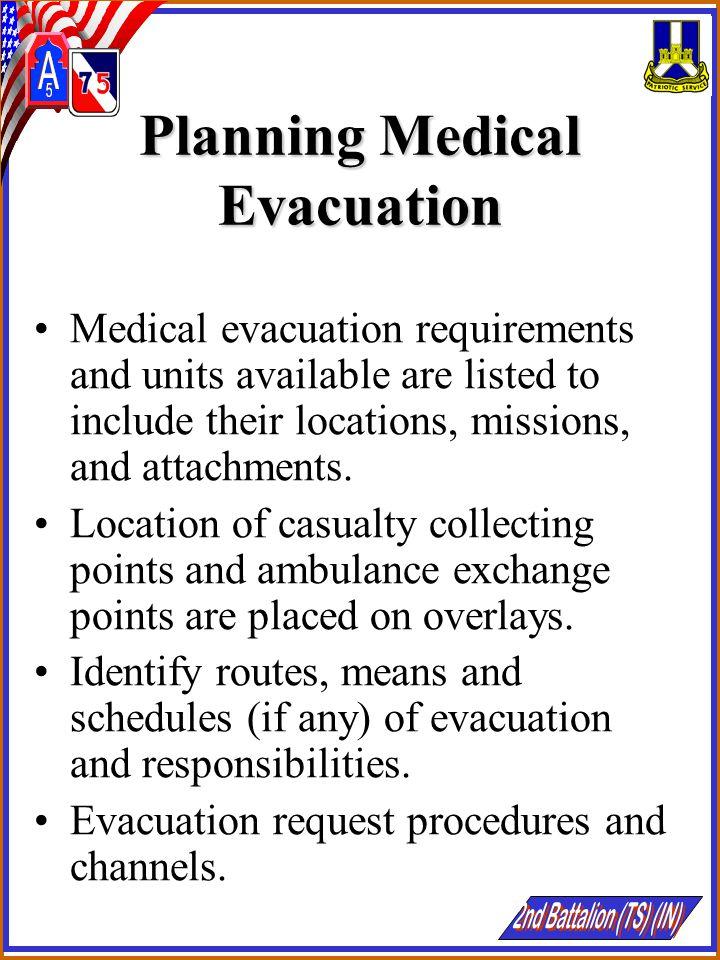 Planning Medical Evacuation