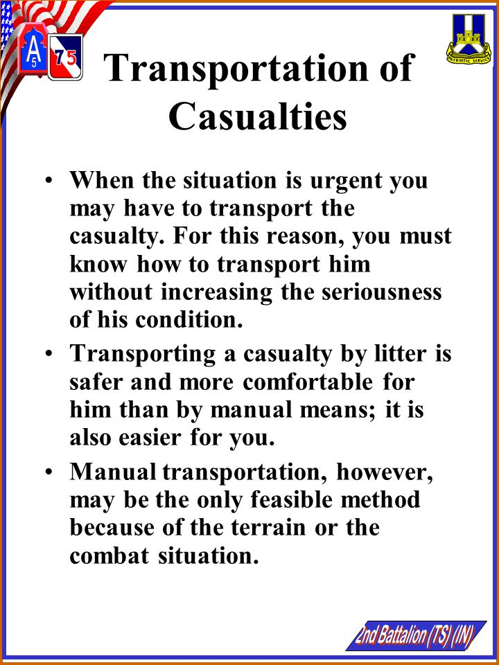 Transportation of Casualties