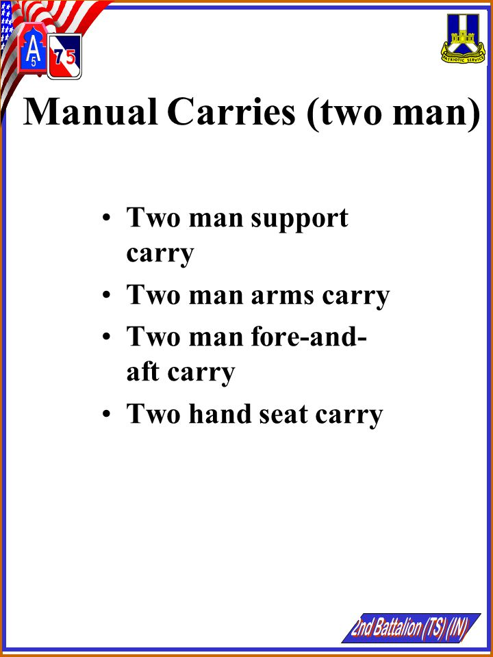 Manual Carries (two man)