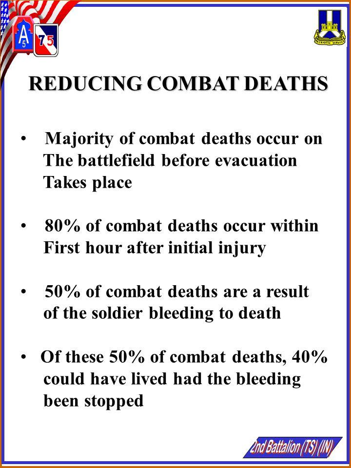 REDUCING COMBAT DEATHS