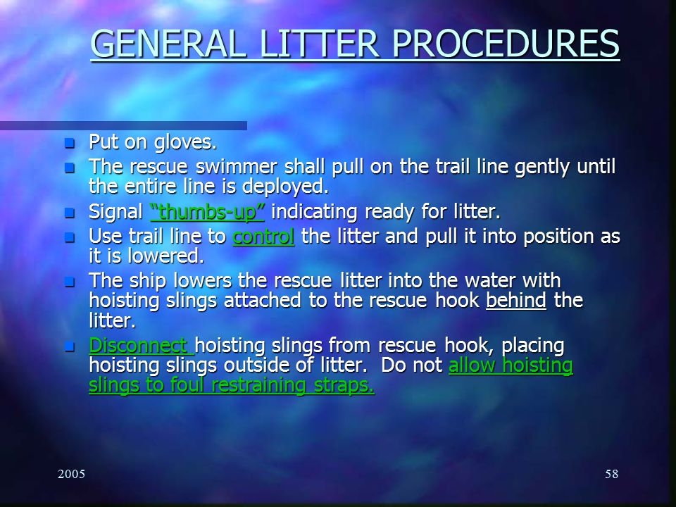 GENERAL LITTER PROCEDURES