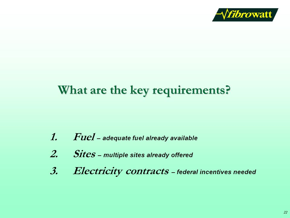 What are the key requirements