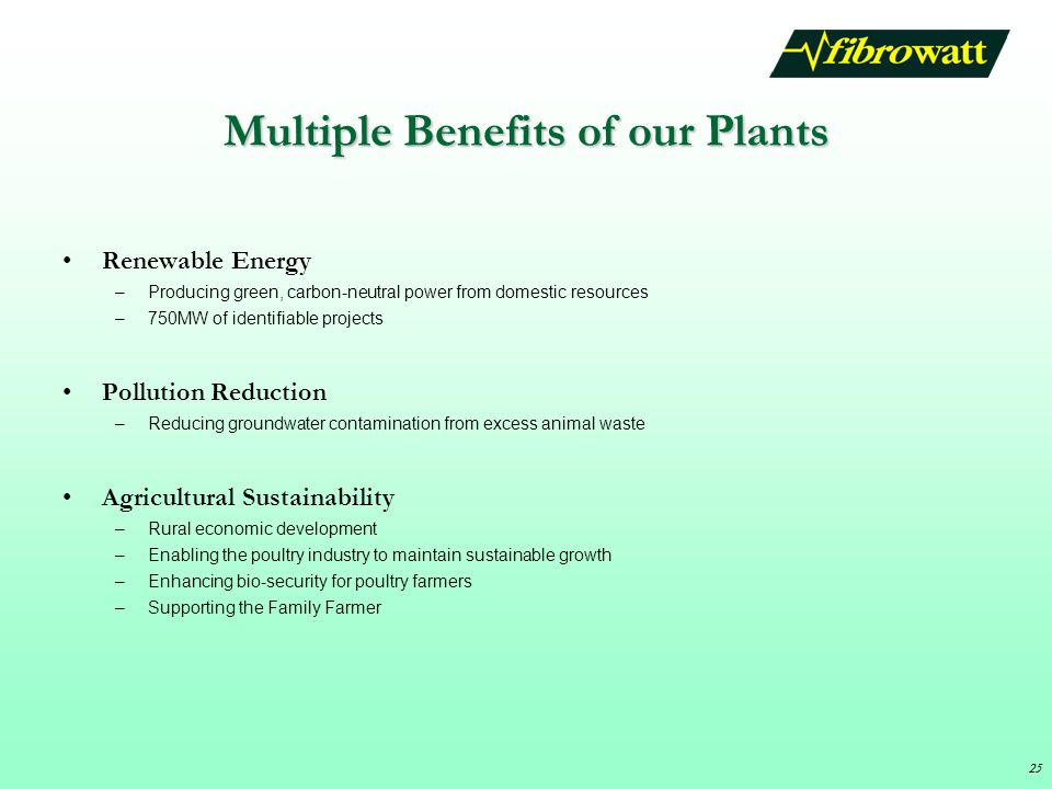 Multiple Benefits of our Plants