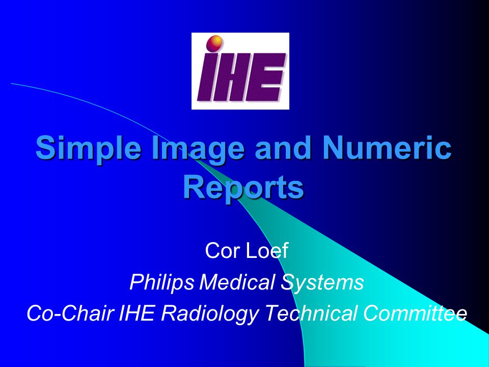 Simple Image and Numeric Reports