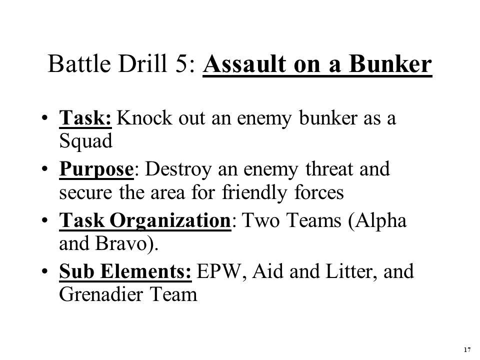 Battle Drill 5: Assault on a Bunker