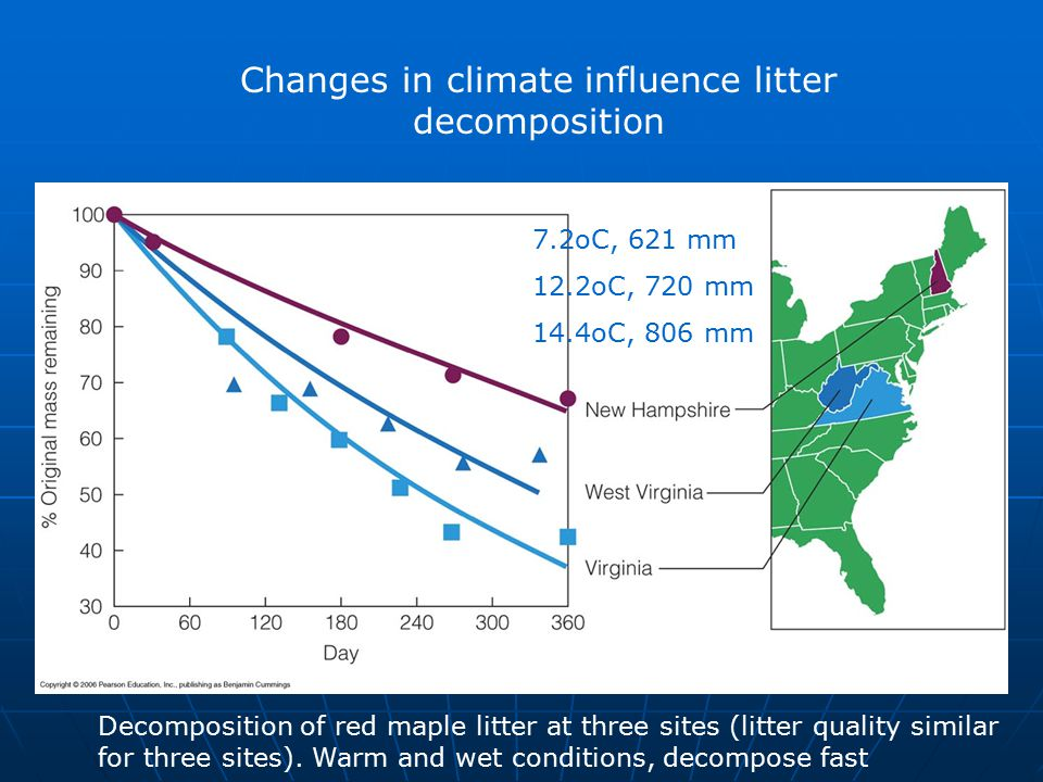 Changes in climate influence litter decomposition