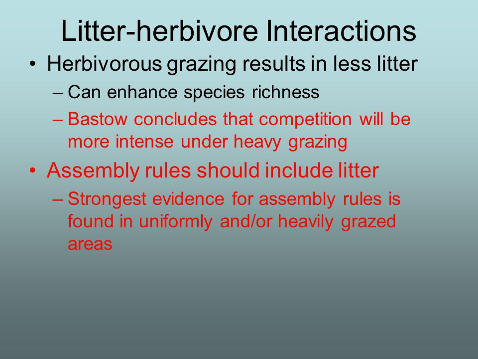 Litter-herbivore Interactions