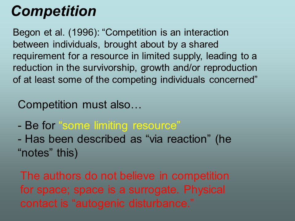 Competition Competition must also…