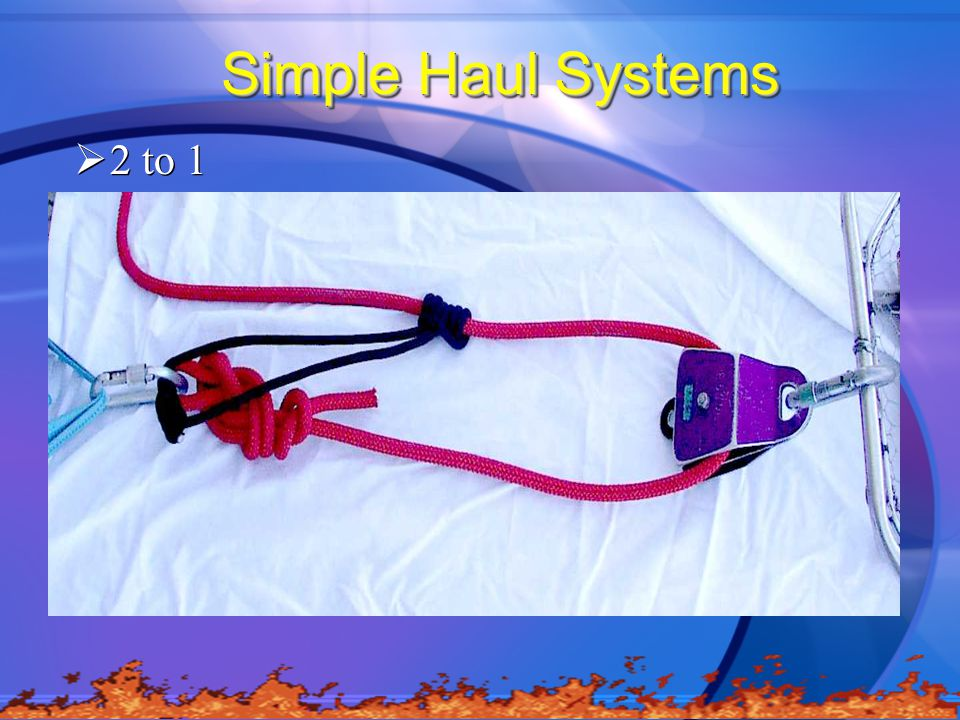 Simple Haul Systems 2 to 1