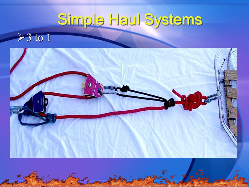 Simple Haul Systems 3 to 1