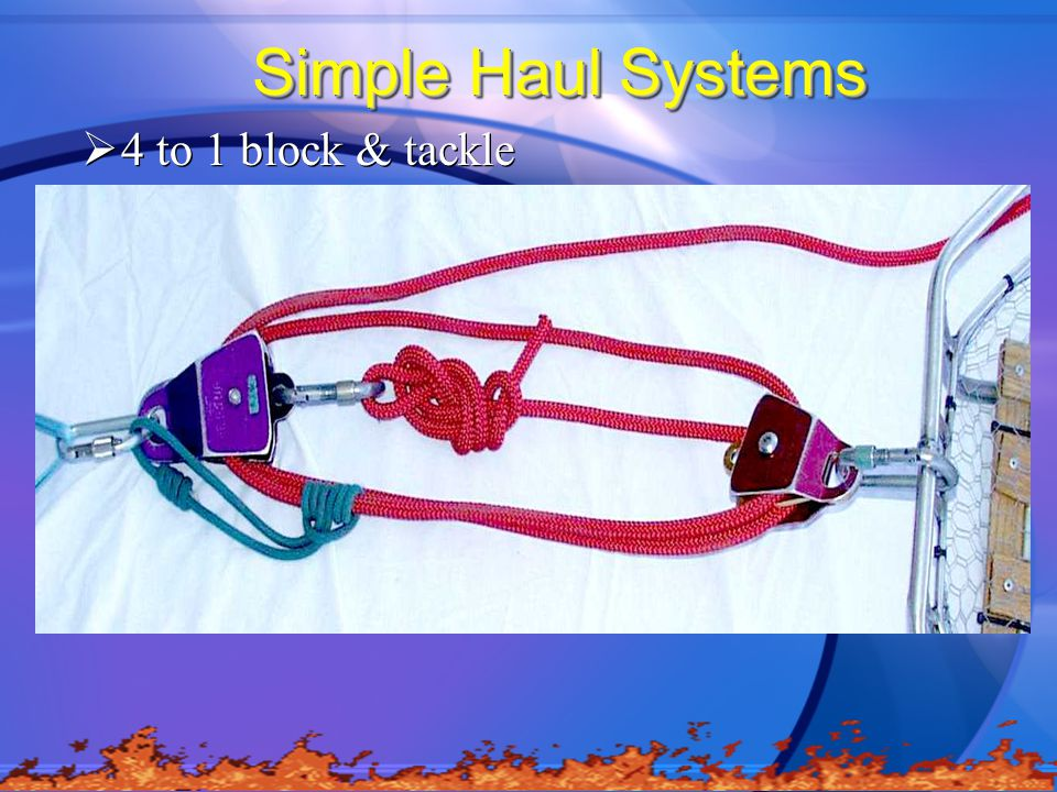 Simple Haul Systems 4 to 1 block & tackle