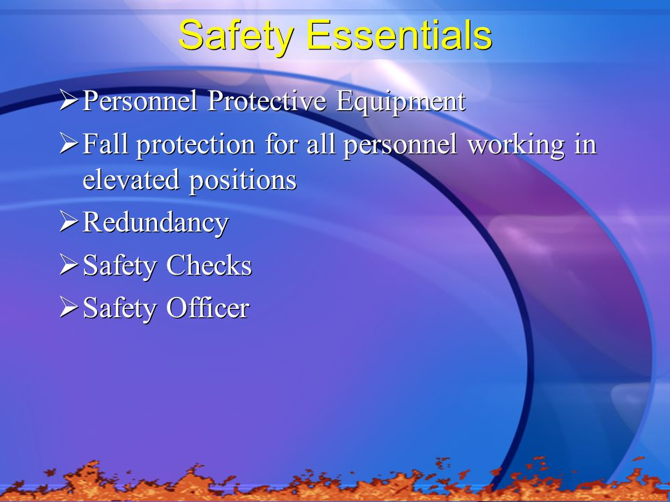 Safety Essentials Personnel Protective Equipment