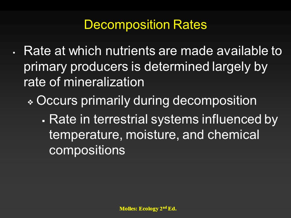 Occurs primarily during decomposition