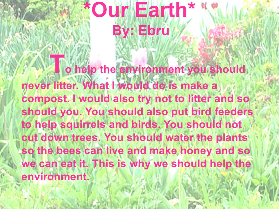 *Our Earth* By: Ebru