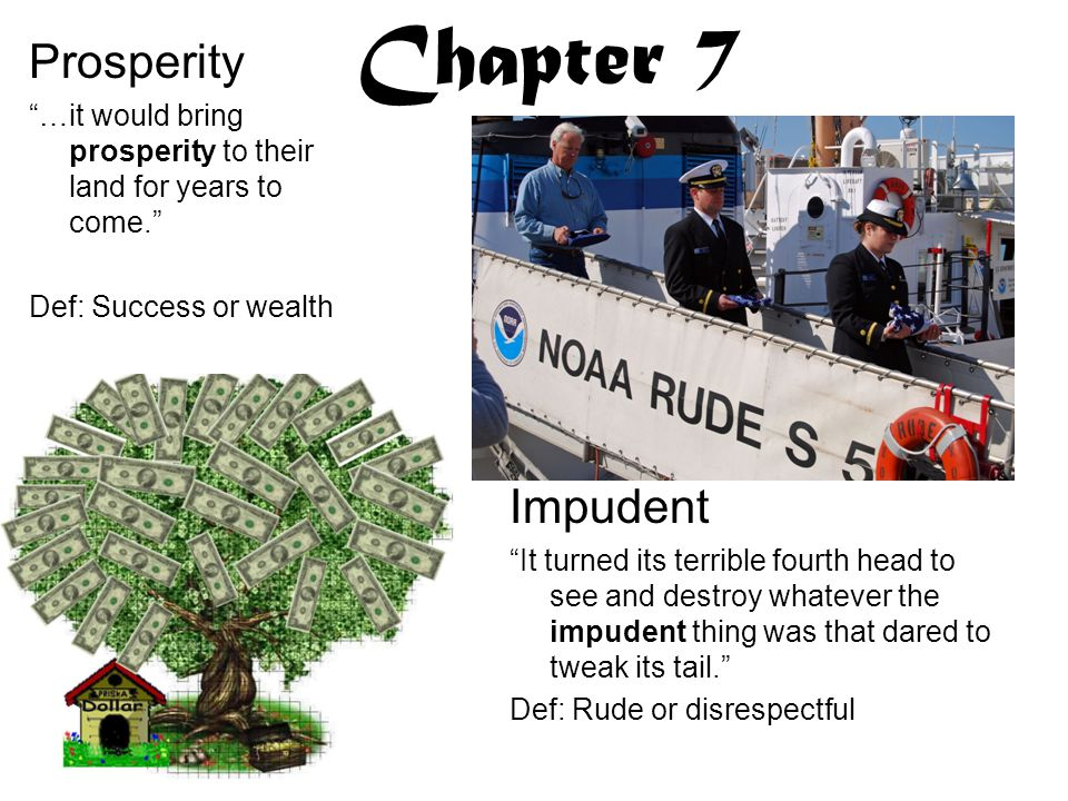 Chapter 7 Prosperity Impudent