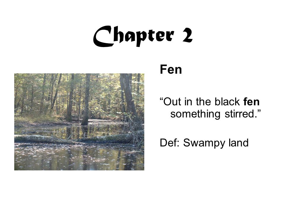 Chapter 2 Fen Out in the black fen something stirred.