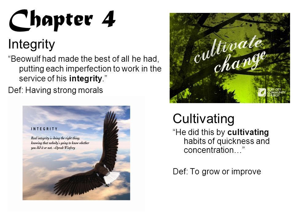 Chapter 4 Integrity Cultivating