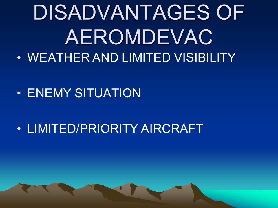 DISADVANTAGES OF AEROMDEVAC